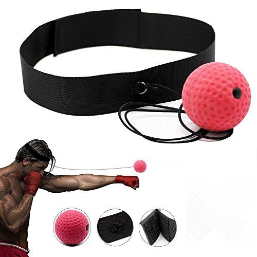 Ball Training Hand Auge Koordination mit, Kopfband, Tragbare Boxen Punch Ball Reaktion zu Verbessern und Speed für Training und Fitness ()