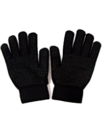 Unisex Magic Gloves With Palm Grip Thermal One Size (Black)