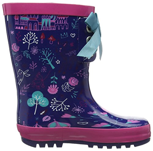 Pumpkin Patch Girls Lace Up Gumboot, Bottes fille Purple (Very Berry)
