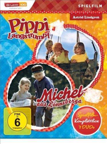 Astrid Lindgren: Pippi Langstrumpf / Michel aus Lönneberga - Spielfilm-Komplettbox [7 DVDs]