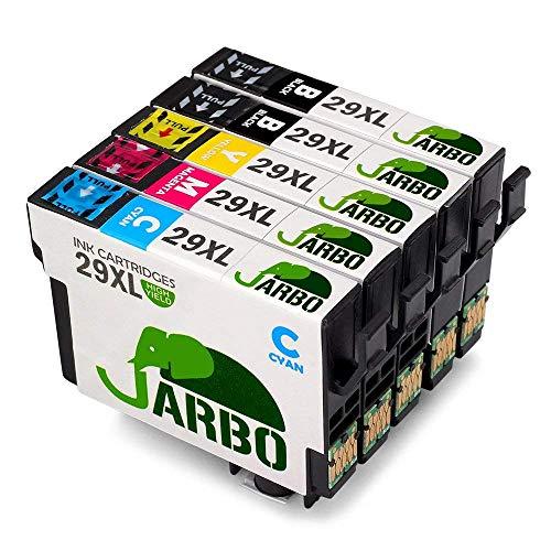 JARBO Ersetzt für Epson 29XL 29 Druckerpatronen (2 Schwarz, Blau, Rot, Gelb) mit hoher Reichweite für Epson XP-445 XP-442 XP-355 XP-352 XP-345 XP-342 XP-247 XP-245 XP-235 XP-257 XP-255 XP-452 XP-432 - 29 Farbe Tinte
