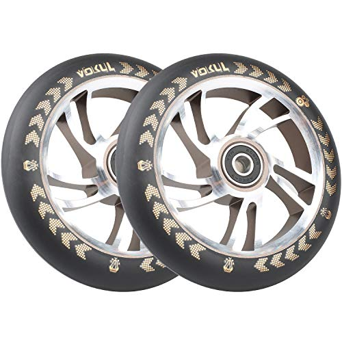 Vokul 120mm Pro Stunt Kick Scooter Rollen, 2PCS (Gold)