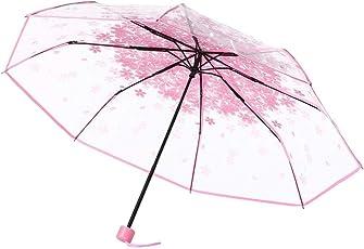 TITAP Travel Umbrella,Anti-UV Sun/Rain Umbrella,3 Fold Umbrella Windproof Transparent Clear Auto Open Close Umbrellas for Women,Men and Kids
