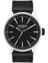 Nixon Herren-Armbanduhr Sentry Leather Analog Quarz Leder A105SW2243-00
