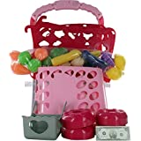 Comdaq Shopping Cart with Light and Music - Pink