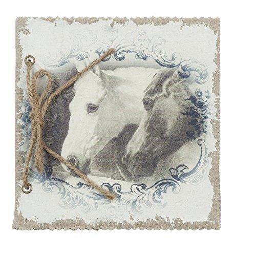 Clayre & Eef 6PA0405 Notizbuch Fotoalbum Pferde ca. 17 x 17 cm