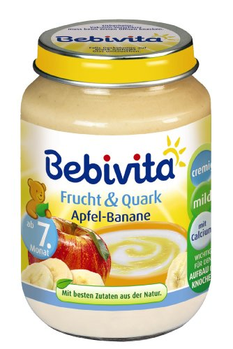 Bebivita Frucht & Quark, Apfel-Banane, 1er Pack (1 x 190g)