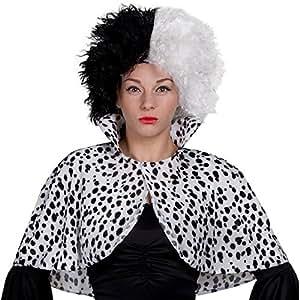 Deluxe Cruella Deville Voluminous Black & White Mid Length