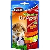 Drops Vitaminados, Roedores, Zanahoria, 75 g