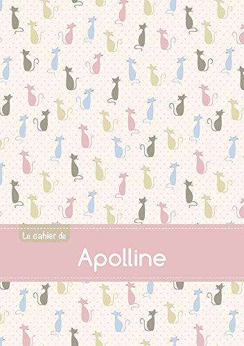 Le cahier d'Apolline - Petits carreaux, 96p, A5 - Chats par Collectif