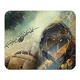Mauspad Flugzeug Flughafen Pilot Fliegermütze Bedruckt
