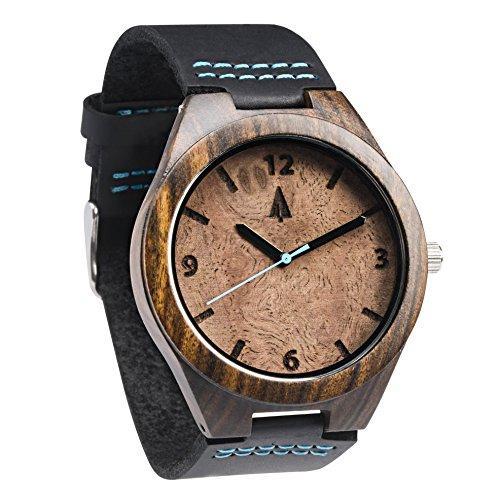 treehut-montre-de-loupe-en-bois-noyer-noir-pour-homme-avec-veritable-bracelet-en-cuir-noir-a-quartz-