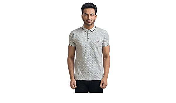 d99003628c3adb MABYN Polo Neck T-Shirt for Men or Women Multi-Color White Size - L  Amazon. in  Clothing   Accessories