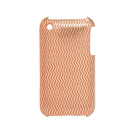 DealMux Orange Wave Printed Kunststoff zurück Fall für iPhone 3G Eejxe Iphone 3g Wave