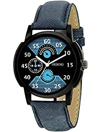 Frosino FRAC101852 Blue Strap Black case Analog Watch for Boys and Men
