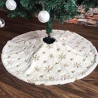 HELEVIA Árbol de Navidad Rock Árbol de Navidad, para Navidad, árbol de Navidad, Falda Blanca de Felpa Árbol de Navidad 90 cm