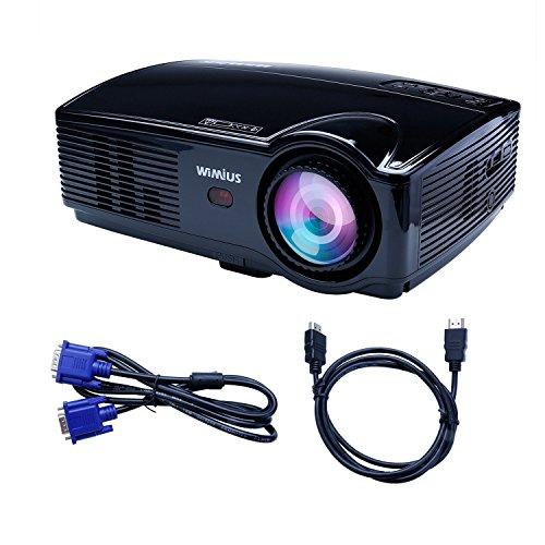 Beamer LED Projektor HD 3200 Lumens 1080P 1280X800 Kontrast 2000:1 Beamer Full HD Videoprojektor für Heimkino Multimedia HDMI /USB /VGA /AV mit HDMI Kabel