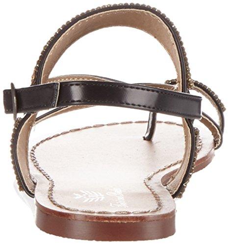 Fritzi aus Preussen Fashion Sandals 04, Sandales Compensées femme Schwarz (Black)