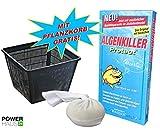 Weitz Algenkiller Protect - 150g - für bis zu 10 000 Liter Teichwasser - POWERHAUS24 Pflanzkorb!