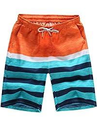 Pantalones Cortos Con Estampado Hombre LHWY, BañAdores De Natacion Con CordóN Ajustable Para Piscina Parque AcuáTico Y Calle