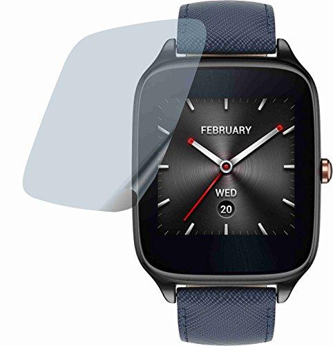 4ProTec 2 Stück Premium Bildschirmschutzfolie Displayschutzfolie kristallklar für Asus Zenwatch 2 WI501Q Schutzhülle Bildschirmschutz Bildschirmfolie Folie