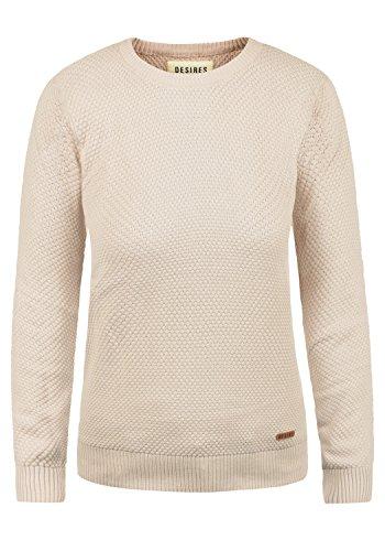 b0ead074f8d0 DESIRES Sarah Damen Strickpullover Feinstrick Pullover Mit Rundhals Und  Waffelstrick-Muster, Größe M