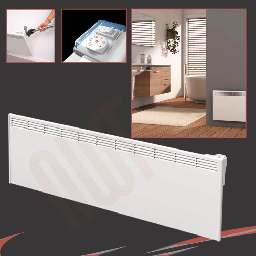 BEHA 2000Watt 2.0kW elektrischer Konvektor weiß, Wandheizung, Wand montiert–1420mm (W)–400mm (H)