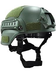 MICH 2000combate casco protector con carril lateral y montaje NVG verde para Airsoft táctico militar Paintball caza
