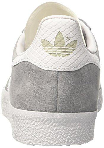 Adidas Gazelle W, Zapatillas Bajas Atléticas Para Mujer Gris (gris Medio / Ftwr Blanco / Dorado Met.)