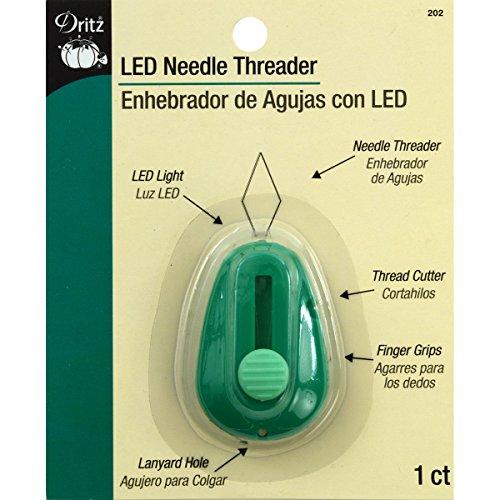 Dritz-infila-ago con illuminazione a led in plastica, colore: verde