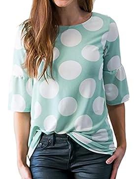 FAMILIZO Camisetas Mujer Verano Blusa Mujer Elegante Negras Camisetas Mujer Largas Manga Corta Algodón Camisetas...