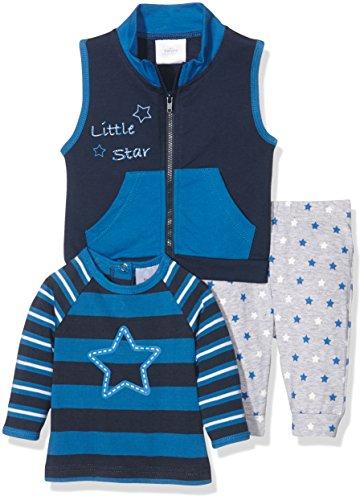 Twins Baby - Jungen Bekleidungsset 3er-Set Little Star, Blau (Marine 3011), 6-9 Monate (Herstellergröße: 74)
