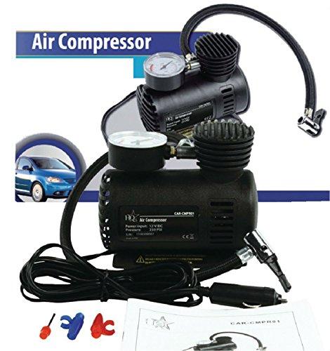 Eurosell - PROFI MINI AUTO / ROLLER KFZ Druckluft Kompressor 12V für Zigarettenanzünder Reifen Luftpumpe Luft auch für Luftmatratze Badeinsel Boot Boote Camper Camping Ball Bälle