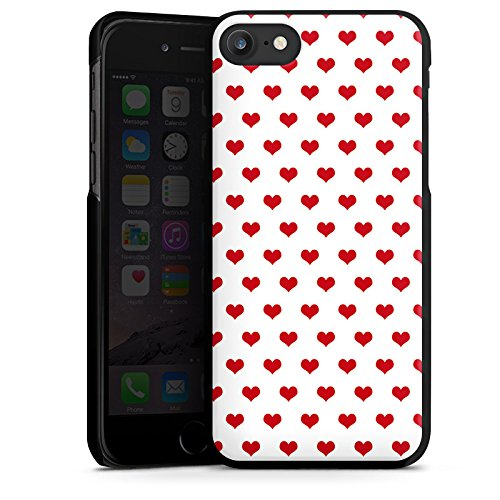 Apple iPhone X Silikon Hülle Case Schutzhülle Polka Herzen Herzchen Oktoberfest Hard Case schwarz