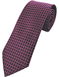 COLLAR AND CUFFS LONDON - HIGH QUALITY Handmade Tie - A Colourful Twin Square Pattern - Purple and Pink