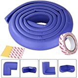 SGM Baby Safety Strip Foam with 3m Tape and 4 Corner Guards for Kids Protection (Blue)