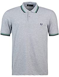 Fred Perry - Polo - Uni - Homme Gris gris Large