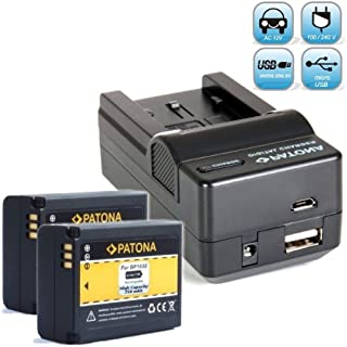 Bundlestar Akku Ladegerät 4 in 1 inkl Ladeschale für Samsung BP1030 BP1130 + 2x PATONA Ersatzakku für Samsung BP1030 passend zu -- Samsung NX210 NX200 NX300 NX300M NX500 NX1000 NX1100 NX2000 NX2020 -- NEUHEIT mit Micro USB Anschluss !