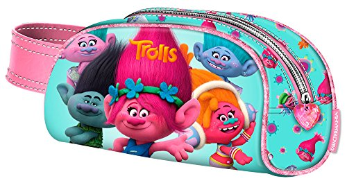 Karactermania Trolls Colors Estuches, 20 cm, Turquesa