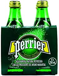 Perrier Natures Basket Vidrio Agua Mineral Natural con Gas - Pack de 4 x 33 cl