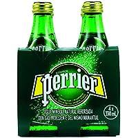 Perrier Nature's Basket Vidrio Agua Mineral Natural con Gas - Pack de 4 x 33 cl - Total: 1320 ml