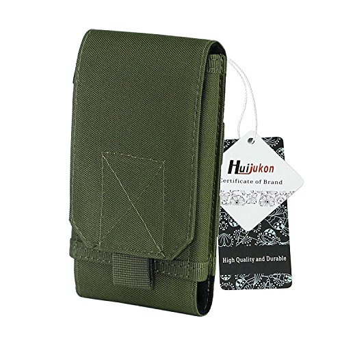 Huijukon Molle Tactical Handytasche, groß, für Smartphones bis zu 6,3 Zoll (16 cm), Gürtelholster, Schutzhülle, für Samsung Galaxy Note 8,LG V30,Apple iPhone X 10,iPhone 8,iPhone 8Plus (5,8 Zoll)