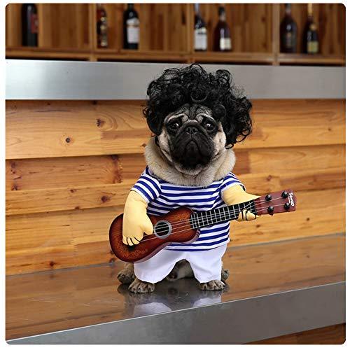 DELIFUR Disfraz de Guitarra para Mascotas