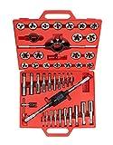 TEKTON 7560 Gewindeschneider-Werkzeugsatz, Zoll, 45-teilig