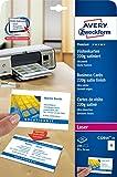 Avery Zweckform C32016-25 Premium Visitenkarten (250 Stück, 85 x 54 mm, beidseitig bedruckbar, satiniert) 25 Blatt