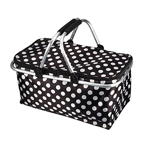 blendivt 600D Oxford Picknickkorb Kühlkorb Kühltasche faltbar wasserdicht Einkaufstasche Eisbeutel Frischtasche Thermotasche Einkaufskorb einkaufskorb weiche kühler