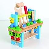 Werkbank für Kinder aus Holz Werkzeugkiste Handwerkzeug
