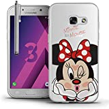"Samsung Galaxy A3 (2017) 4.7"" A320F Étui HCN PHONE® Coque silicone TPU Transparente Ultra-Fine Dessin animé jolie Thème Noël pour Samsung Galaxy A3 (2017) 4.7"" A320F + stylet - Minnie Mouse"