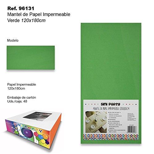 Mantel de Papel Impermeable 120x180cm Verde SINI