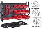 Werkstatt Wandregal Stapelboxen Schraubenbox Regalsystem 30tlg